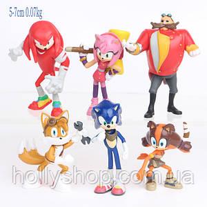 Ігровий набір Super Sonic третє покоління Супер Соник - Майлз Тейзл - Емі Роуз - Доктор Еггман - Єхидна Наклза