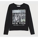 Лонгслив Нью-Йорк H&M на девочку, фото 2