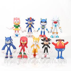 Ігровий набір Супер Соник 9 фігур 12см Super Sonic Їжак