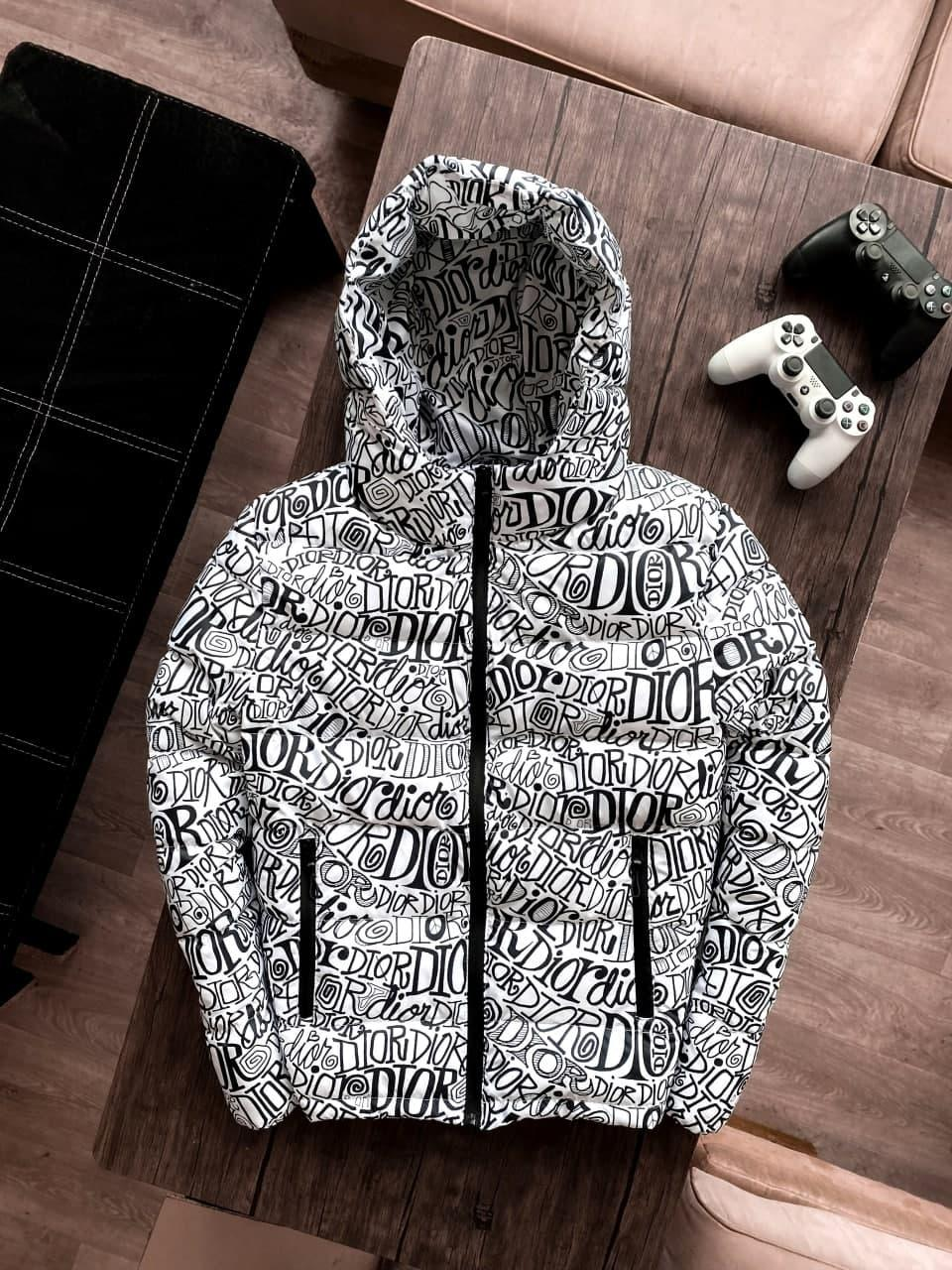 😜 Куртка - Мужская куртка с капюшоном / чоловіча куртка з капюшоном DIOR біла