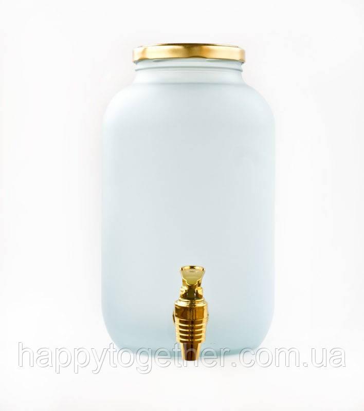 Лимонадница для Кенді барів кольорова з пластиковим золотим краником. Диспенсери для лимонаду 4,25 л.
