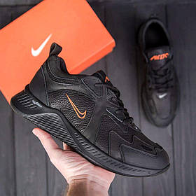 Чоловічі чорні шкіряні кросівки nike