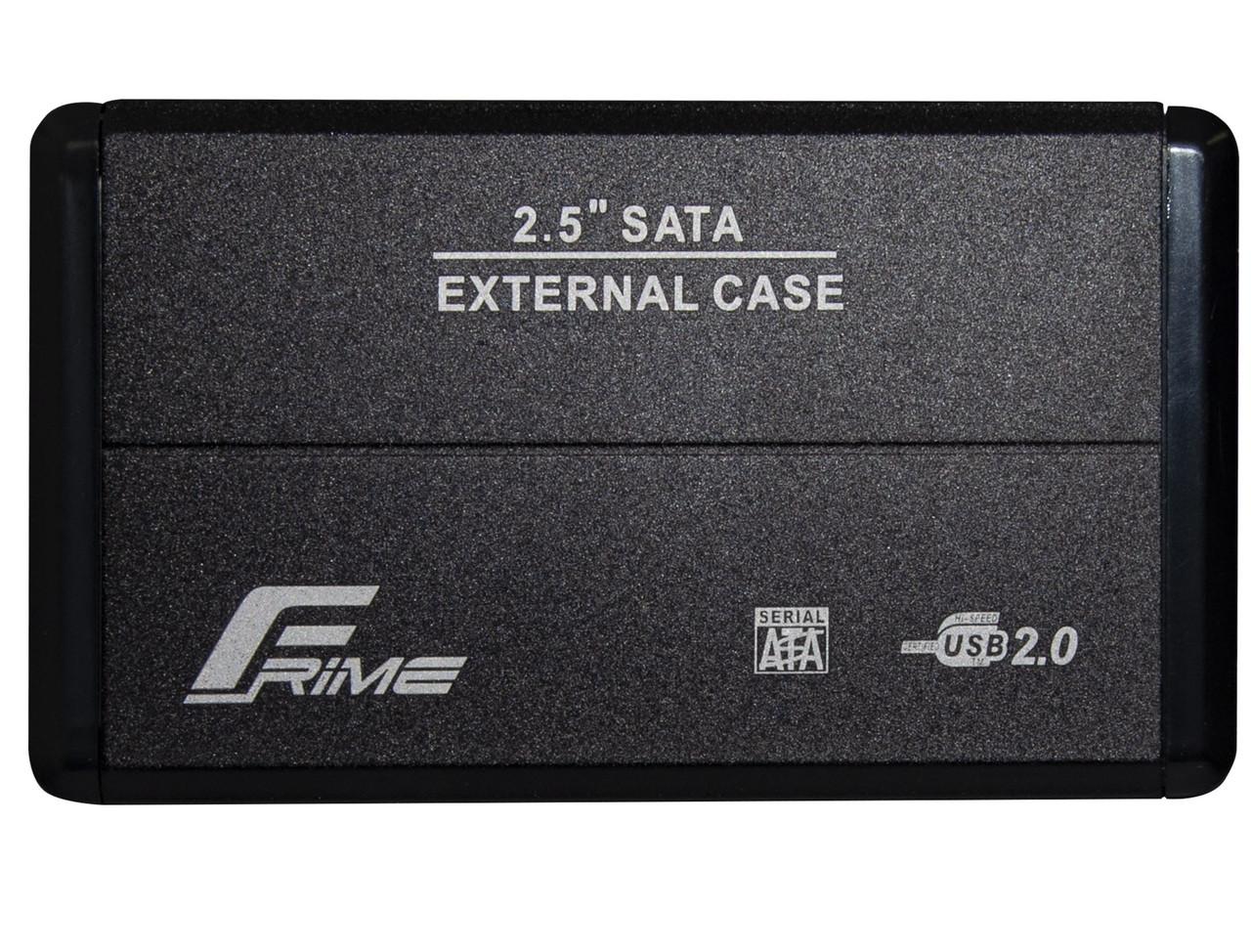 """Зовнішній кишеню Frime SATA HDD/SSD 2.5"""", USB 2.0, Metal, Black (FHE20.25U20)"""