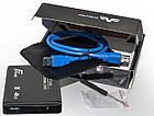 "Внешний карман Frime SATA HDD/SSD 2.5"", USB 3.0, Metal, Black (FHE20.25U30), фото 4"