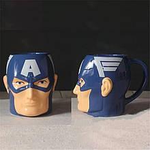 Кружка керамическая Супергерой Первый Мститель Капитан Америка 450 мл