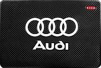 Антискользящий силиконовый коврик 20х13 на торпеду авто - Audi