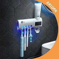 ✨ Стерилізатор тримач зубних щіток автоматичний дозатор зубної пасти ✨, фото 1
