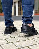 Мужская Обувь Кожа Замш Черная, фото 4