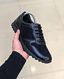 Мужская Обувь Кожа Замш Черная, фото 5