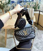 Стьобана жіноча сумка Louis Vuitton black