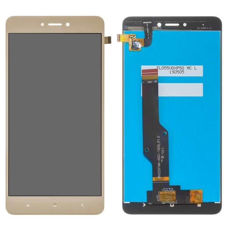 Дисплей для Xiaomi Redmi Note 4X (Snapdragon) з тачскріном, золотий, Original PRC