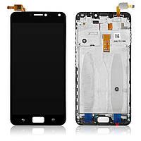 Дисплей для Asus ZenFone 4 MAX (5.5)   ZC554KL   4 Max Pro   4 Max Plus з тачскріном і рамкою, чорний
