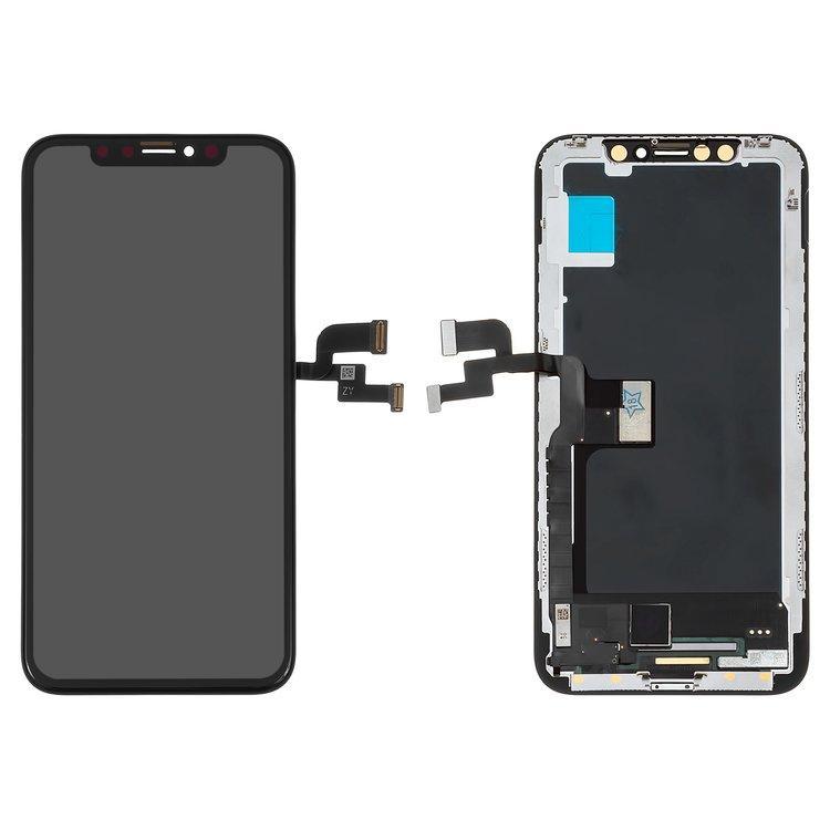Дисплей для Apple iPhone X OLED, ZY OEM hard с тачскрином, черный