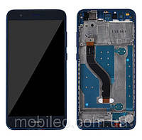 Дисплей для Huawei P10 Lite | WAS-LX1 | WAS-LX2 | WAS-LX3 с тачскрином и рамкой, синий