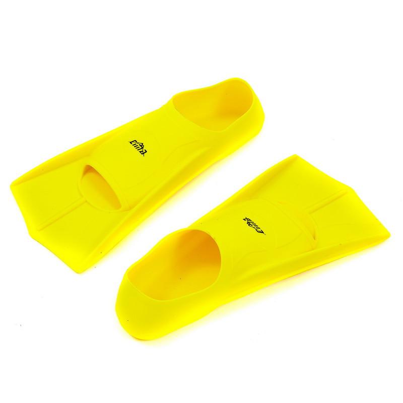 Ласти тренувальні із закритою п'ятою жовті PL-7035, S (33-35)