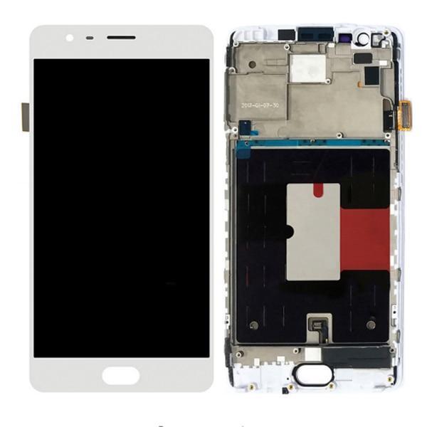 Дисплей для OnePlus 3 | OnePlus 3T | A3000 | A3010 TFT з тачскріном і рамкою, білий