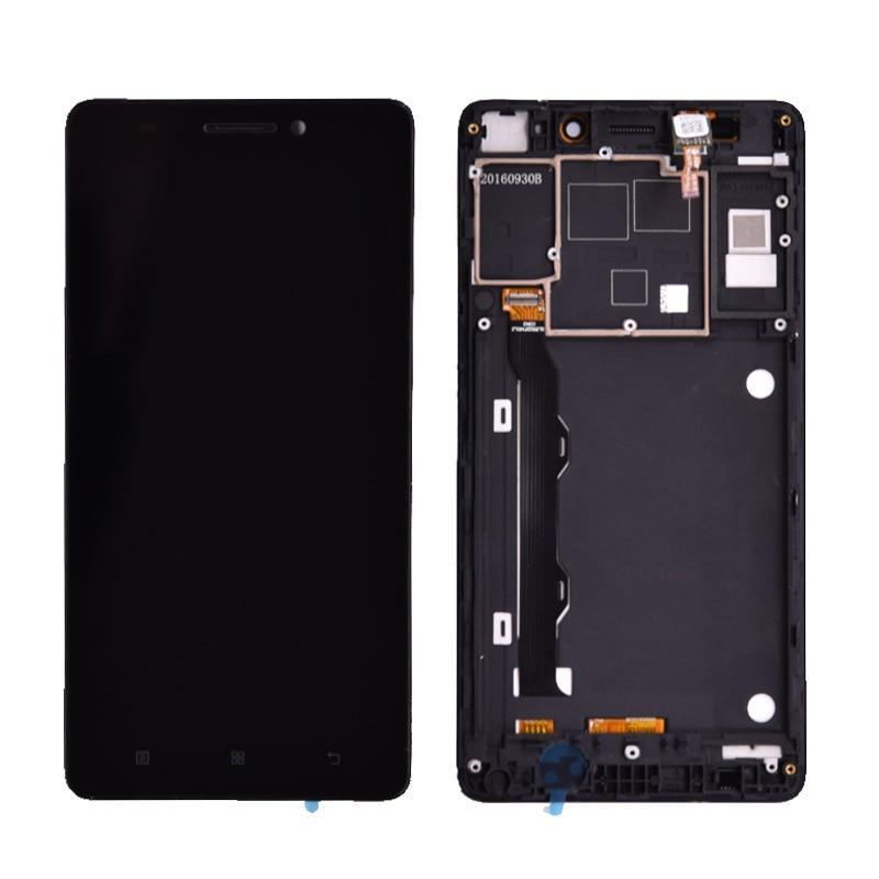 Дисплей для Lenovo A7000 Plus | K3 Note | K50-T3s | K3 Note | K50-T5 з тачскріном і рамкою, чорний