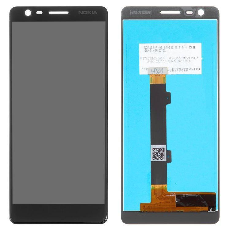 Дисплей для Nokia 3.1 Dual Sim | TA-1063 | TA-1057 с тачскрином, черный, оригинал (PRC)