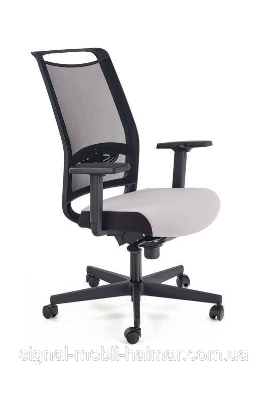 Крісло Офісне GULIETTA спинка - сітка, сидіння - чорний / сірий - ERF8078 (Halmar)