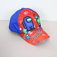 Дитяча кепка AMONG US синя, фото 1