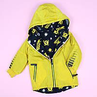 Вітрівка дитяча двостороння жовта тм SEAGULL розмір 1,2,3 року, фото 1