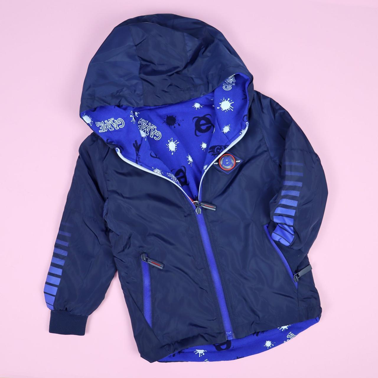 Вітрівка дитяча синя тм SEAGULL розмір 3,4,5 років