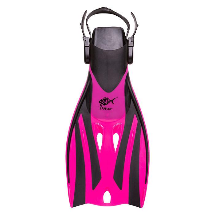 Ласты для плавания детские Dolvor Froggi розовые F52JRS/M(27-31)