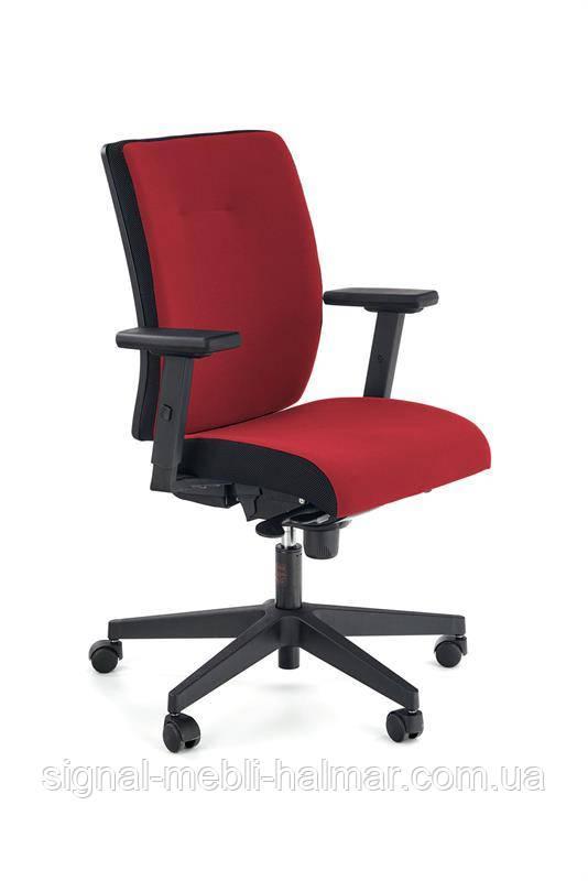 Крісло комп'ютерне POP колір: бічна смуга - чорний RN60999, перед - червоний M04 (Halmar)