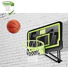Баскетбольний щит Exit регульований чорний + кільце з амортизацією, фото 3