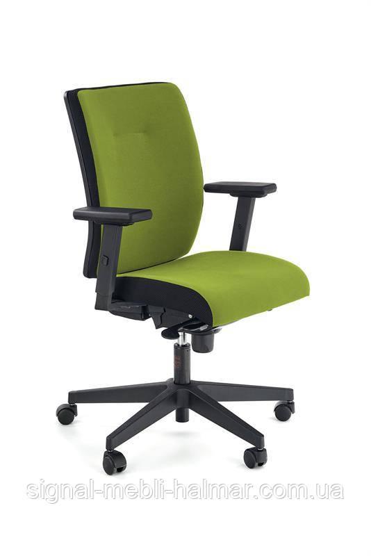 Крісло комп'ютерне POP колір: бічна смуга - чорний RN60999, перед - зелений M38 (Halmar)