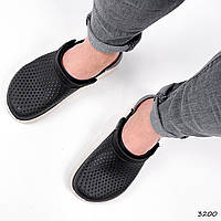 Сабо мужские Croci черные + серый 3200