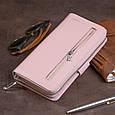 Вертикальный вместительный кошелек из кожи женский ST Leather 19303 Розовый, фото 10