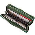 Вертикальний місткий гаманець зі шкіри унісекс ST Leather 19304 Зелений, фото 4