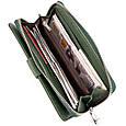 Вертикальний місткий гаманець зі шкіри унісекс ST Leather 19304 Зелений, фото 6