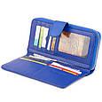 Вертикальний місткий гаманець зі шкіри унісекс ST Leather 19305 Синій, фото 3