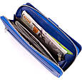 Вертикальний місткий гаманець зі шкіри унісекс ST Leather 19305 Синій, фото 6