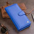Вертикальний місткий гаманець зі шкіри унісекс ST Leather 19305 Синій, фото 9