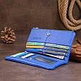 Вертикальний гаманець на кнопці унісекс ST Leather 19205 Синій, фото 7