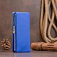 Вертикальний гаманець на кнопці унісекс ST Leather 19205 Синій, фото 9