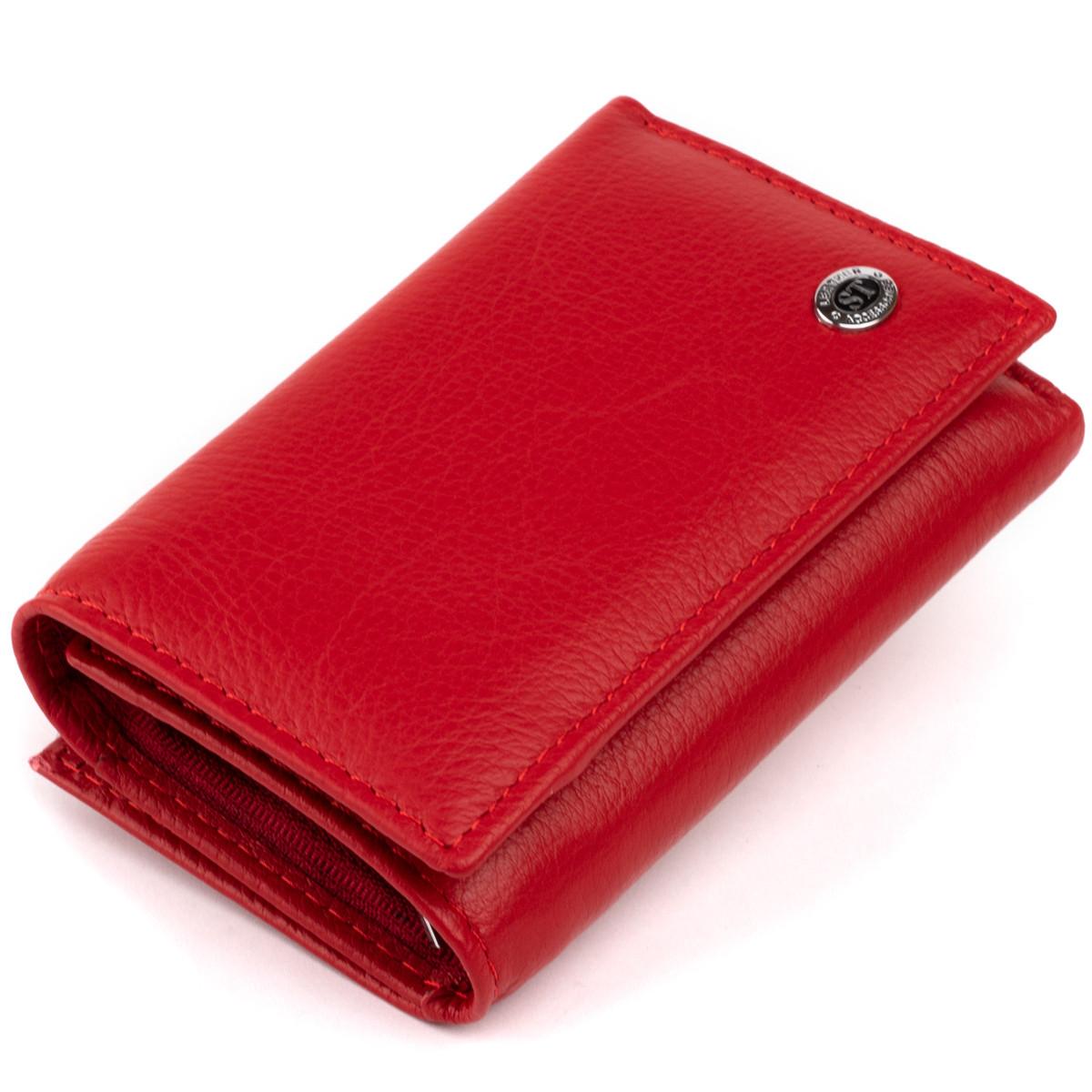 Горизонтальне портмоне зі шкіри жіноче на магніті ST Leather 19335 Червоне