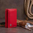 Горизонтальне портмоне зі шкіри жіноче на магніті ST Leather 19335 Червоне, фото 8
