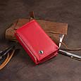 Горизонтальне портмоне зі шкіри жіноче на магніті ST Leather 19335 Червоне, фото 9