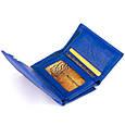 Горизонтальне портмоне зі шкіри унісекс на магніті ST Leather 19338 Синій, фото 3