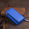 Горизонтальне портмоне зі шкіри унісекс на магніті ST Leather 19338 Синій, фото 7