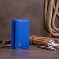 Горизонтальне портмоне зі шкіри унісекс на магніті ST Leather 19338 Синій, фото 8