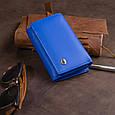 Горизонтальне портмоне зі шкіри унісекс на магніті ST Leather 19338 Синій, фото 9