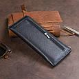 Горизонтальний тонкий гаманець зі шкіри унісекс ST Leather 19324 Чорний, фото 7
