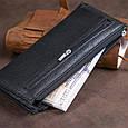 Горизонтальний тонкий гаманець зі шкіри унісекс ST Leather 19324 Чорний, фото 8