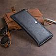 Горизонтальний тонкий гаманець зі шкіри унісекс ST Leather 19324 Чорний, фото 9
