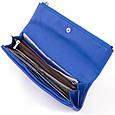 Клатч конверт с карманом для мобильного кожаный женский ST Leather 19268 Синий, фото 3
